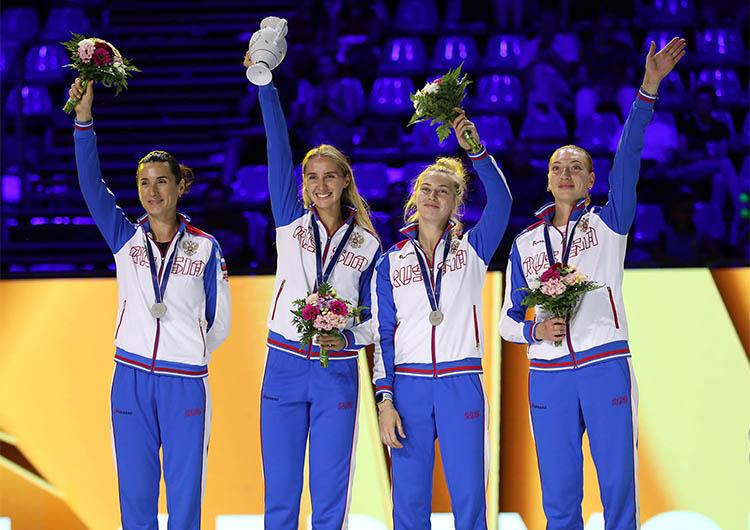 Любовь Шутова - серебряный призёр командного Чемпионата мира по фехтованию 2019 года!